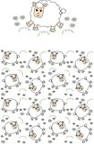 Seamless lamb pattern Royalty Free Stock Photography