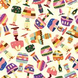 Seamless lamp pattern Royalty Free Stock Images