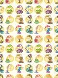 Seamless lamp pattern Royalty Free Stock Image
