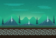 Seamless landscape for game background. It can be repeated or tiled without any visible seams Stock Images