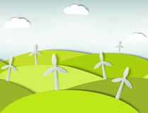 Seamless landscape with wind turbines. This is file of EPS10 format Stock Photography