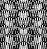 Seamless latticed pattern. 3D illusion. Royalty Free Stock Photo