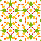 Seamless lava drops abstract pattern. Lava drops around circles abstract pattern. Seamless tile Vector Illustration
