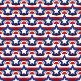 Seamless Layered 4th July Background Stock Photos