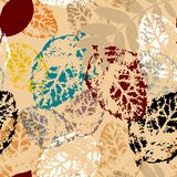 Seamless leaf background, autumn Royalty Free Stock Image