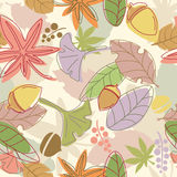 Seamless leaf pattern Royalty Free Stock Photos