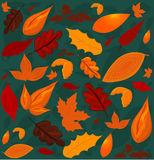 A seamless leaf pattern. Royalty Free Stock Photography