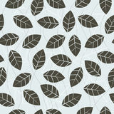 Seamless leaf pattern Stock Image
