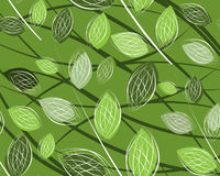 A seamless leaf pattern. Simple art of seamless colored leaf pattern Royalty Free Stock Photography
