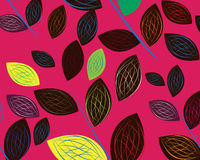 A seamless leaf pattern Stock Image