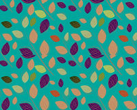 A seamless leaf pattern. Simple art of seamless colored leaf pattern Stock Image