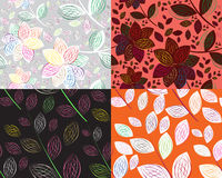 A seamless leaf pattern. Simple art of seamless colored leaf pattern Royalty Free Stock Photos