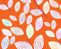A seamless leaf pattern. Simple art of seamless colored leaf pattern Stock Photo