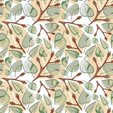 Seamless leaf pattern Stock Photography