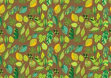 Seamless leaf pattern Royalty Free Stock Images