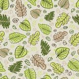 Seamless leaf pattern. Abstract hand drawn background Stock Photos