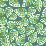 seamless leaf pattern. Abstract ornament. Royalty Free Stock Photos