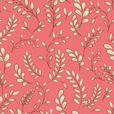 Seamless leaf pattern. Royalty Free Stock Photography