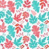 Seamless leaf pattern.Leaf background. Autumn seamless pattern. Royalty Free Stock Photography