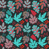 Seamless leaf pattern.Leaf background. Autumn seamless pattern. Stock Photography