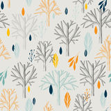 Seamless leaf pattern stock illustration