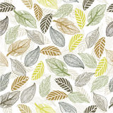 Seamless leaf pattern in vector. Floral seamless backgrounds for design of fabrics and wallpapers in vector Stock Photos