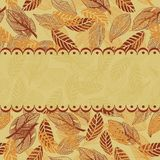 Seamless leaf pattern in vector. Seamless leaf pattern with frame Stock Photos