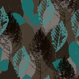 Seamless leaf pattern Royalty Free Stock Photo
