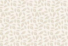 Seamless leaf pattern vector illustration