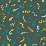 Seamless leaf pattern. Vectore stylish texture with leaves. Floral repeat pattern. Vector Royalty Free Stock Image
