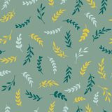 Seamless leaf pattern. Vectore stylish texture with leaves. Floral repeat pattern. Vector Stock Images