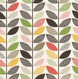 Seamless leaf pattern. On white background Royalty Free Illustration