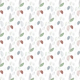 Seamless leaf pattern on a white background Royalty Free Stock Photo