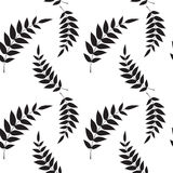 Seamless leaf wallpaper Royalty Free Stock Images