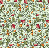 Seamless Leafs Pattern Royalty Free Stock Photo
