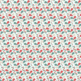 Seamless leafs pattern Stock Image
