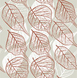 Seamless leafy  background Stock Images