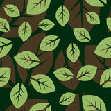 Seamless leafy background Royalty Free Stock Images