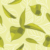 Seamless leafy background Stock Photo