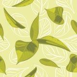 Seamless leafy background stock photo