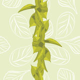 Seamless leafy background for wrap design stock photo