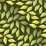 Seamless Leafy Wallpaper Stock Photo