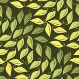 Seamless Leafy Wallpaper Stock Photo