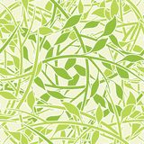 Seamless Leafy Wallpaper Patte Royalty Free Stock Image