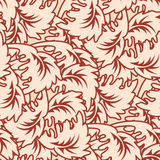 Seamless Leafy Wallpaper Pattern Stock Photos