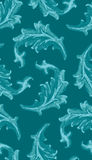 Seamless Leafy Wallpaper Pattern Stock Photo