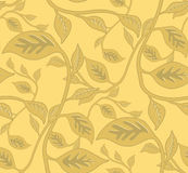 Seamless Leafy Wallpaper Pattern. Seamless Wallpaper Tile - This pattern repeats on all sides. You can use it to fill your own custom shapes and backgrounds Royalty Free Stock Photography