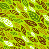 Seamless leafy wallpaper tile. In green and brown tones stock illustration