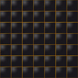 Seamless leather cube tile background Stock Photography