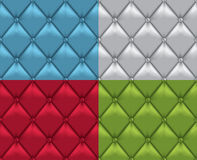 Seamless Leather vintage upholstery backgrounds Stock Photography